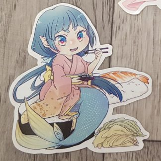 Sushi Mermaid Sticker
