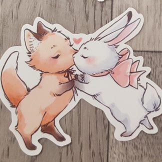 Fox and Bunny Sticker