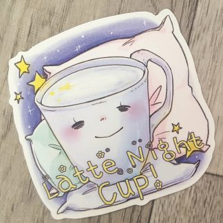 Latte Night Cup Sticker