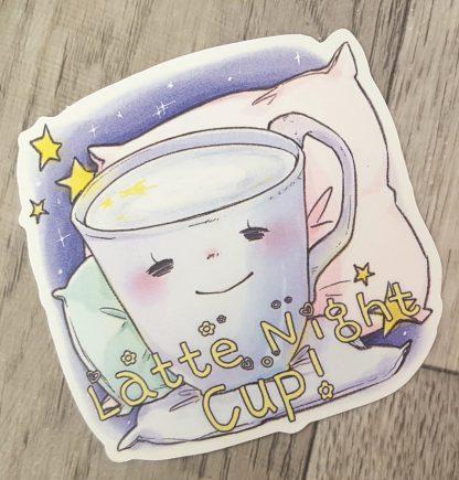 Latte Night Cup Sticker