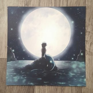 Moon Mermaid Square Print