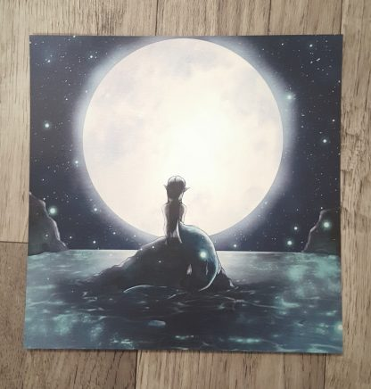 Moon Mermaid Square Print